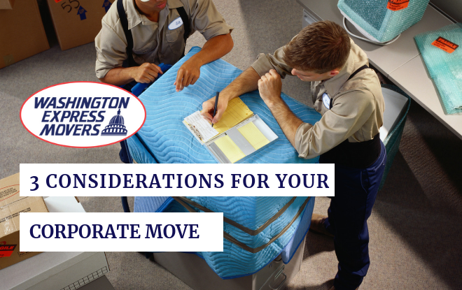 3 Considerations for Your Corporate Move
